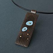 Украшения handmade. Livemaster - original item Pendant of polymer clay With blue flowers. Handmade.