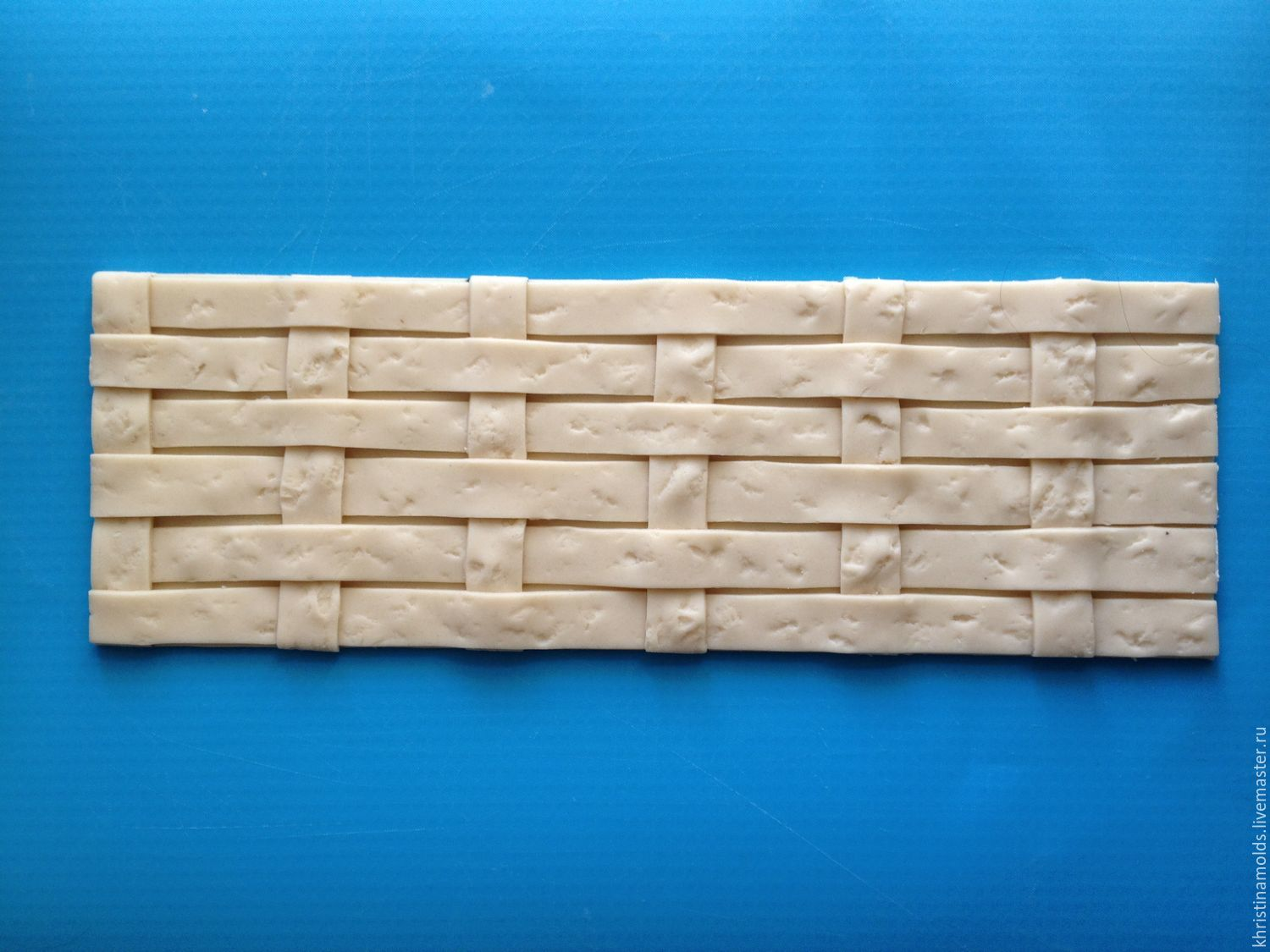Mold silicone 'Basket weave large', Molds for making flowers, St. Petersburg,  Фото №1