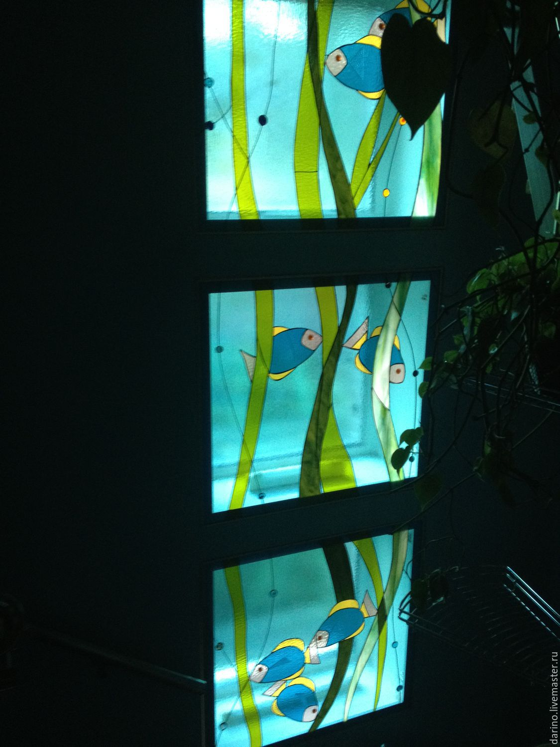handmade. Livemaster - handmade. Buy stained glass  Aquarium .Glass color  ... 71027cd1e