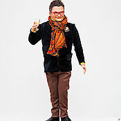 Куклы и игрушки ручной работы. Ярмарка Мастеров - ручная работа портретная кукла Александр Васильев. Handmade.