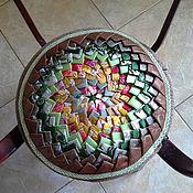 Для дома и интерьера ручной работы. Ярмарка Мастеров - ручная работа Лоскутная сидушка Колючий цветок. Handmade.