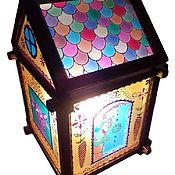 Для дома и интерьера handmade. Livemaster - original item Stained glass lamp in the nursery House favorite characters. Handmade.
