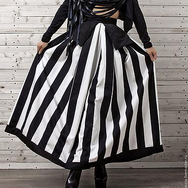Одежда ручной работы. Ярмарка Мастеров - ручная работа Юбка в полоску, юбка длинная. Handmade.