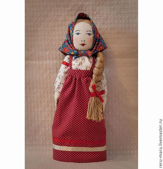 Народные куклы ручной работы. Ярмарка Мастеров - ручная работа. Купить Кукла девица Марфа. Handmade. Девица красавица, лён