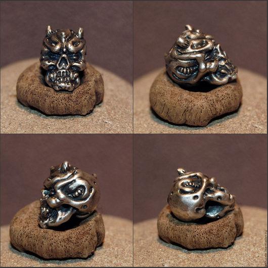 """Украшения для мужчин, ручной работы. Ярмарка Мастеров - ручная работа. Купить Бусина """"Демон"""". Handmade. Серебряный, бусина, серебро, авторский"""