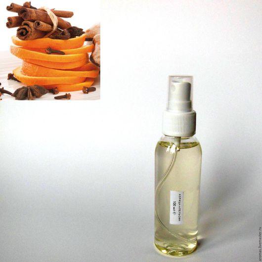 Ярмарка Мастеров - ручная работа. Купить Флакон с ароматической жидкостью Корица-Апельсин 100 мл на основе натуральных масел для ароматизатора-диффузора для дома. Handmade.