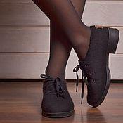 Обувь ручной работы handmade. Livemaster - original item Shoes felted Black. Handmade.