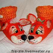 """Обувь ручной работы. Ярмарка Мастеров - ручная работа Пинеточки """"Рыжий ля мур"""". Handmade."""
