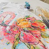 Одежда handmade. Livemaster - original item t-shirt Flamingo. Handmade.
