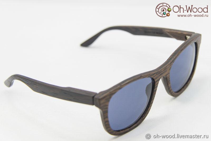 Очки ручной работы. Ярмарка Мастеров - ручная работа. Купить Солнцезащитные очки из дерева 'Wayfarer' Венге. Handmade. Коричневый, венге