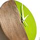 Часы для дома ручной работы. Часы настенные Форест. Часы ручной работы.. Ansem-store. Интернет-магазин Ярмарка Мастеров.