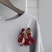 Украшения handmade. Livemaster - original item Countess`s Brooches In. Wooden brooches. Handmade.