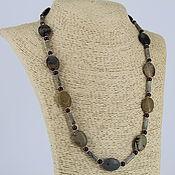 Украшения handmade. Livemaster - original item Necklace made of natural Jasper stones, labradorite and pomegranate. Handmade.