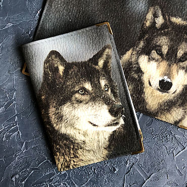Stationery handmade. Livemaster - original item cover: wolf. Handmade.