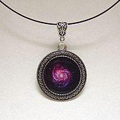 handmade. Livemaster - original item Pendant Outer Space Universe Galaxy Purple Epoxy Resin. Handmade.