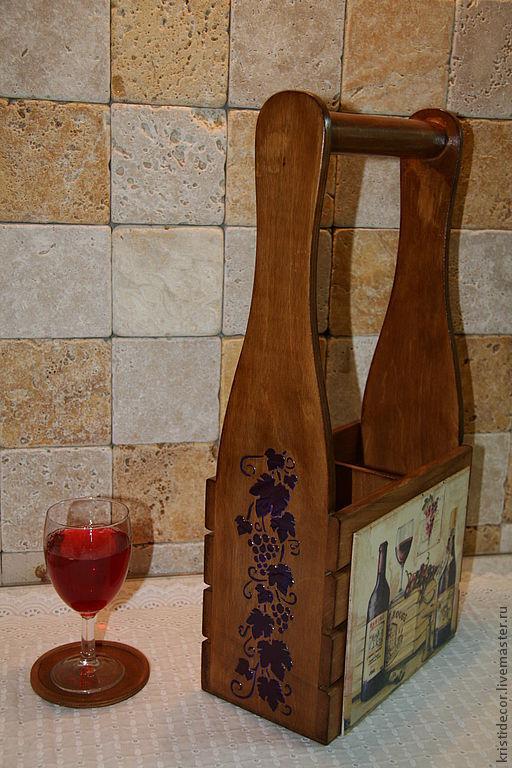 Корзины, коробы ручной работы. Ярмарка Мастеров - ручная работа. Купить Короб для вина. Handmade. Короб, подарок на новый год