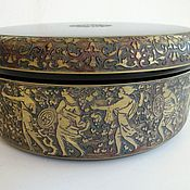 Винтаж handmade. Livemaster - original item ANTIQUE jewelry BOX MOSER MOSER OROPLASTIC CZECHOSLOVAKIA 1920. Handmade.