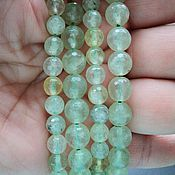 Материалы для творчества handmade. Livemaster - original item Prehnite beads faceted beads, 6mm and 8mm. Handmade.