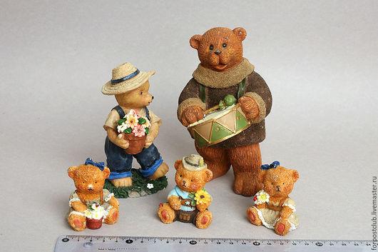Куклы и игрушки ручной работы. Ярмарка Мастеров - ручная работа. Купить Семейство медведей. Handmade. Разноцветный, семья, медведи, медвежонок