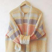 Одежда ручной работы. Ярмарка Мастеров - ручная работа Кардиган- пальто из кид-мохера.. Handmade.