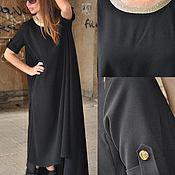 Платья ручной работы. Ярмарка Мастеров - ручная работа Черное, нарядное платье - DR0094GE. Handmade.