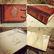 Канцелярские товары ручной работы. Ярмарка Мастеров - ручная работа Фотоальбом фамильный ROSSET. Handmade.