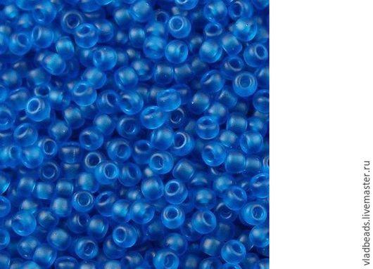Для украшений ручной работы. Ярмарка Мастеров - ручная работа. Купить Бисер круглый Miyuki 149F 11/0 Transparant Matte Capri Blue. Handmade.
