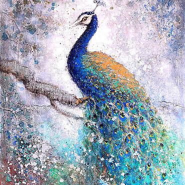 Картины и панно ручной работы. Ярмарка Мастеров - ручная работа Интерьерная картина маслом 100см на 150см. Handmade.