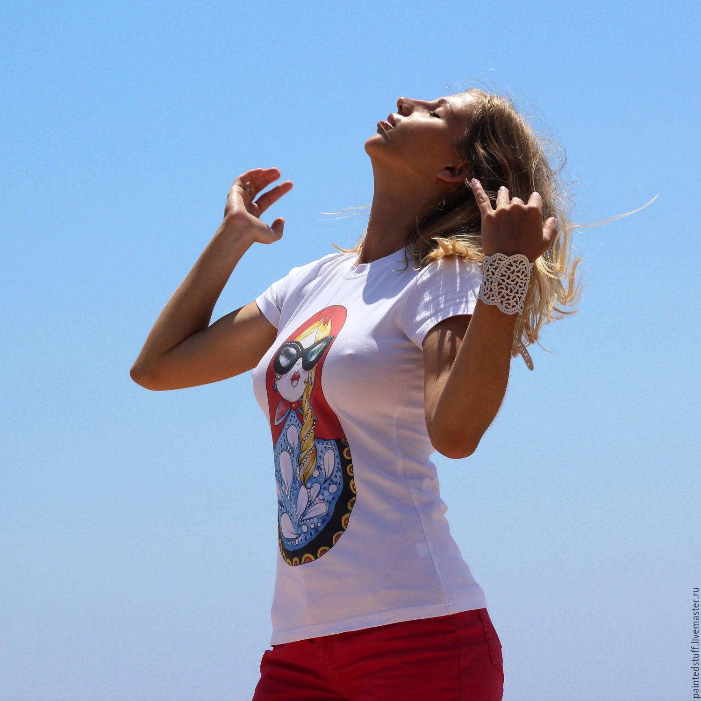 """Футболка женская с авторским принтом """"Агент Матрешка ... - photo#47"""