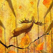 """Картины ручной работы. Ярмарка Мастеров - ручная работа """"Осень""""  авторский принт. Handmade."""