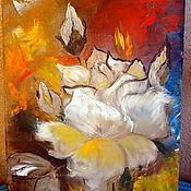 Картины и панно ручной работы. Ярмарка Мастеров - ручная работа Холст, масло Каменный цветок. Handmade.
