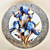 Винтаж handmade. Livemaster - original item Wall plate Iris Royal Worcester England. Handmade.