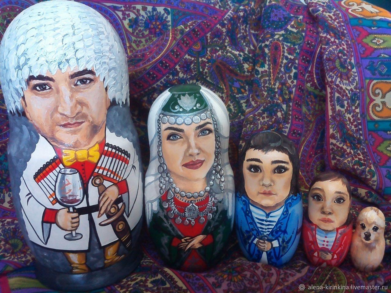 Портреты на матрёшках по фото, Именные сувениры, Магнитогорск,  Фото №1