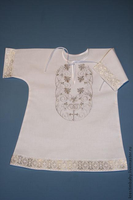 Крестильные принадлежности ручной работы. Ярмарка Мастеров - ручная работа. Купить Крестильная рубашечка. Handmade. Белый, крестильное платье, на крестины