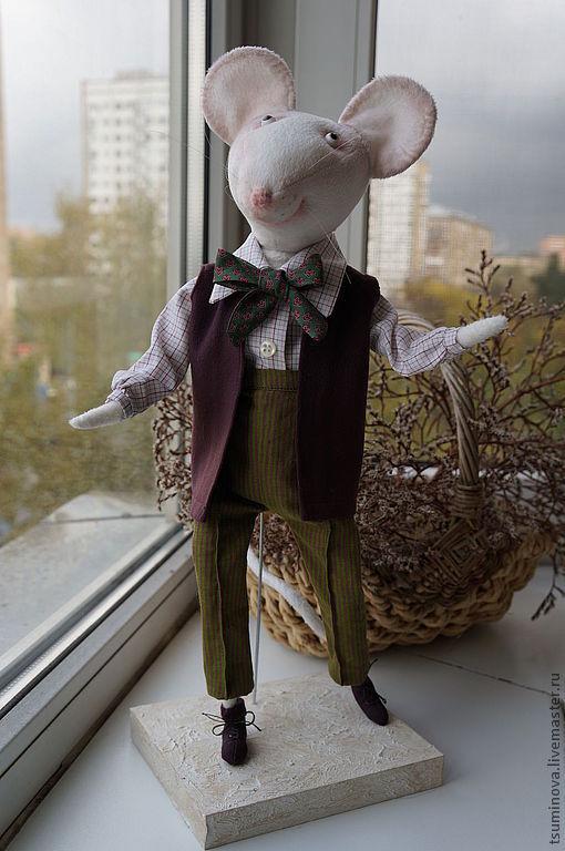 Игрушки животные, ручной работы. Ярмарка Мастеров - ручная работа. Купить мышь Ричард. Handmade. Мышь игрушка