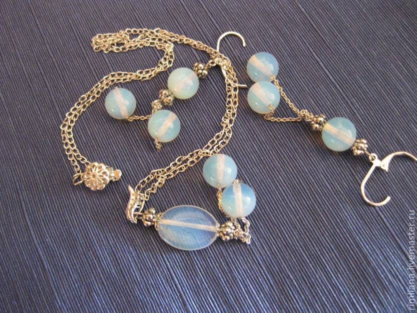 The set 'Frosty' Moon stone, Jewelry Sets, Moscow,  Фото №1