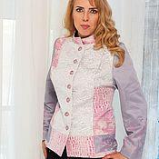 Одежда handmade. Livemaster - original item The author`s Jacket in patchwork pink and gray tones. Handmade.