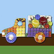 Картины и панно handmade. Livemaster - original item Smalt-puzzle «Mosaic Fruit Machine». Handmade.