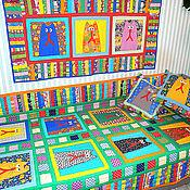 Для дома и интерьера ручной работы. Ярмарка Мастеров - ручная работа интерьер детской комнаты в кошачьем стиле (лоскутное шитье,аппликация). Handmade.