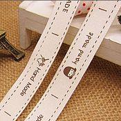 Материалы для творчества ручной работы. Ярмарка Мастеров - ручная работа Хлопковая лента (нашивки). Handmade.
