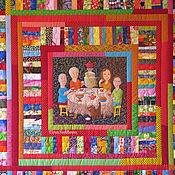 """Для дома и интерьера ручной работы. Ярмарка Мастеров - ручная работа Лоскутное одеяло """"Всегда мы вместе"""". Handmade."""