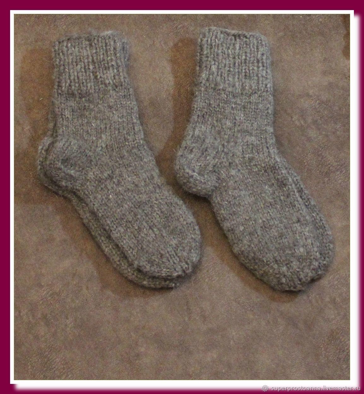 Носки вязаные из натуральной овечьей шерсти, Носки, Моздок,  Фото №1