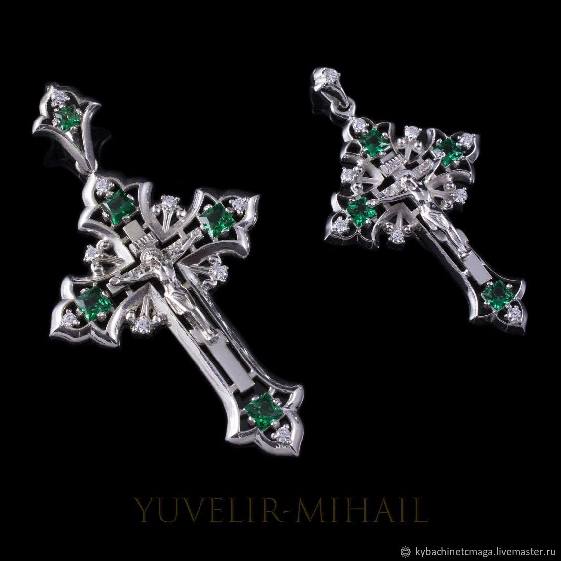 A couple of crosses from silver lanoitanretni, Pendants, Moscow,  Фото №1