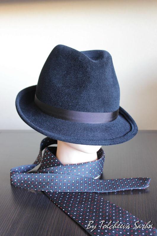 Шляпы ручной работы. Ярмарка Мастеров - ручная работа. Купить Почти трилби. Версия чёрная. Мужская шляпа .. Handmade.