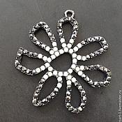 Материалы для творчества handmade. Livemaster - original item Large pendant art. 7-6 with white and black crystals. Italy. Handmade.