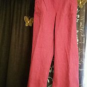 Одежда handmade. Livemaster - original item tailoring to order. Trousers from flax. Summer pants big size .. Handmade.