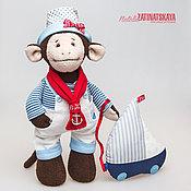 Куклы и игрушки ручной работы. Ярмарка Мастеров - ручная работа Обезьянка Морячок - Символ 2016 года. Handmade.