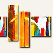 Картины и панно ручной работы. Ярмарка Мастеров - ручная работа Абстракция Радуга. Handmade.