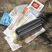 Сумки и аксессуары handmade. Livemaster - original item Black.  Just Black.  Compact wallet. RFID. Handmade.