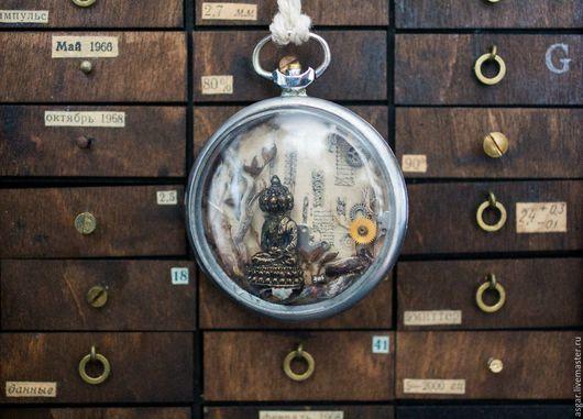 Кулоны, подвески ручной работы. Ярмарка Мастеров - ручная работа. Купить Будда в корпусе старых карманных часов. Handmade. Комбинированный